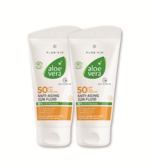 LR Aloe Vera Sun Anti-aging fluid LSF 50 Séria 2 ks - 2x 50 ml